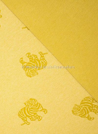 Fibremood gebreide jacquard tijger - geel - Minnie
