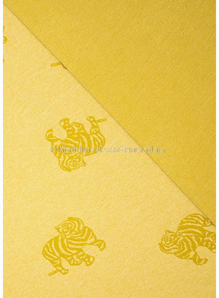 Fibremood knitted jacquard tiger - yellow - Minnie