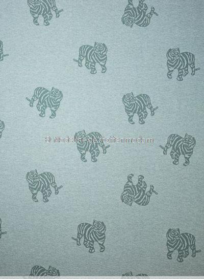 Fibremood gebreide jacquard tijger - mint - Minnie