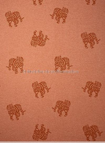 Fibremood gebreide jacquard tijger - roest - Minnie