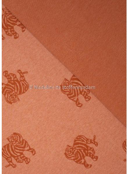 Fibremood knitted jacquard tiger - rust - Minnie