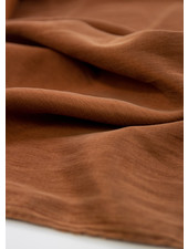 Ipeker - Vegan Textile cupro katoen - zijdezachte touch - cognac
