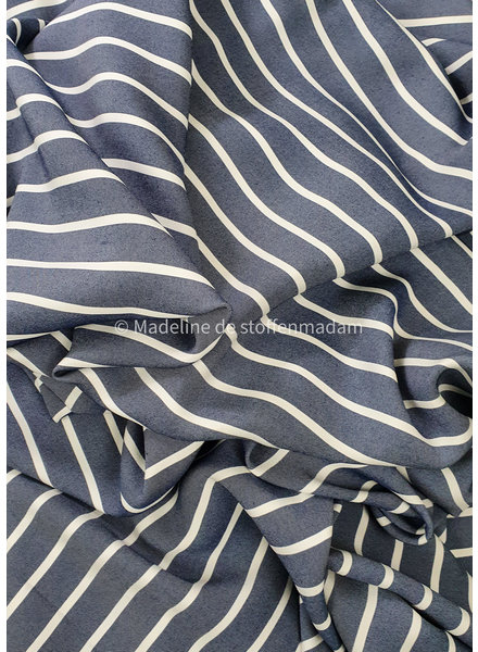 striped navy blue melee - viscose