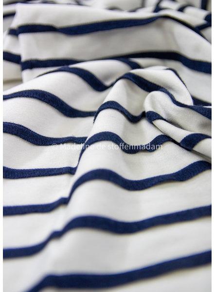 La Maison Victor Nan  t-shirt -  maritiem - viscose jersey