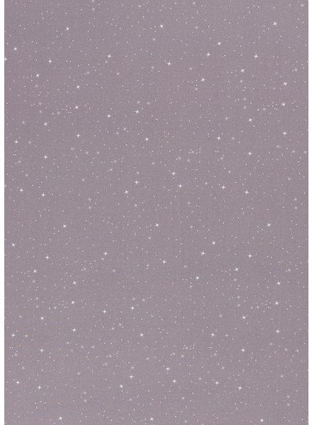 grey stars - cotton