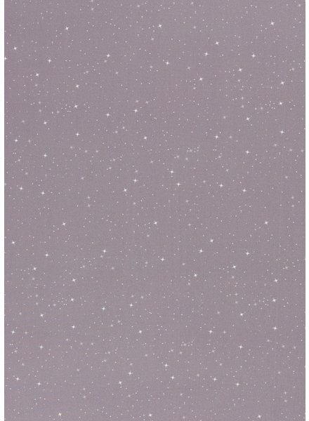 grijs sterretjes - katoen