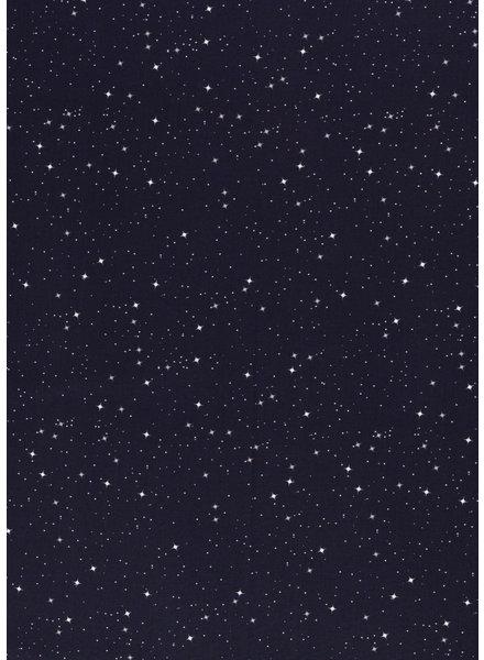 navy stars - cotton
