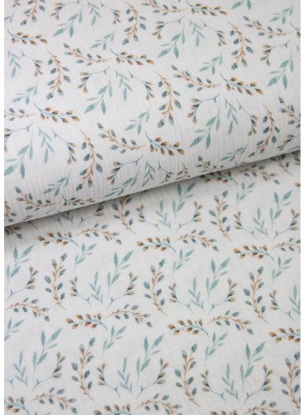 BIO eucalyptuskleur blaadjes - tetra / double gauze