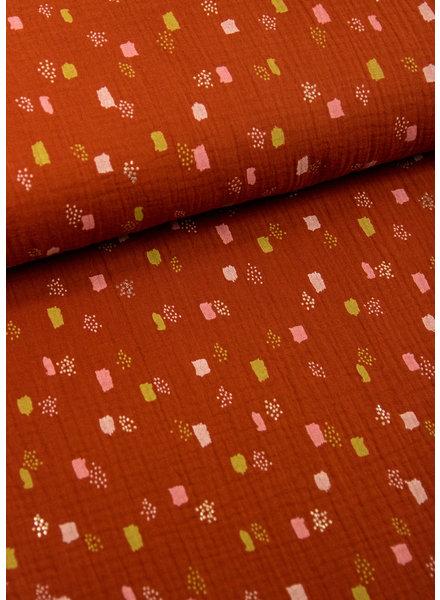 BIO terra pastel spots - tetra / double gauze