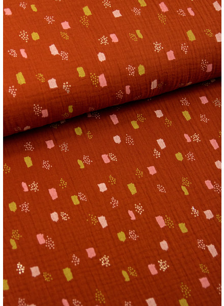 BIO terra pastel vlekjes - tetra / double gauze