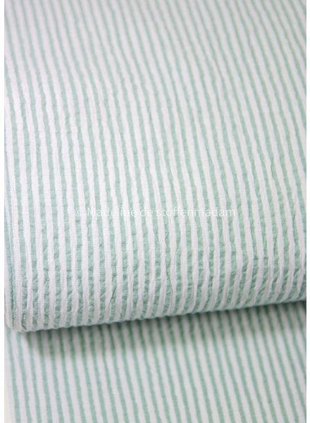 mint striped - seersucker