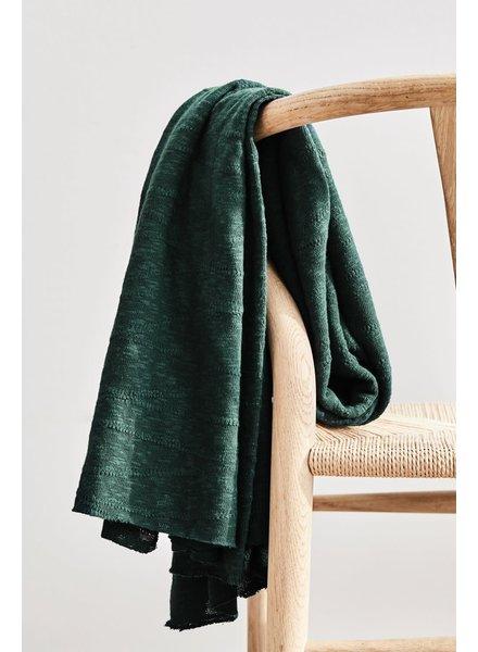 Mind The Maker organic slub jacquard knit - bottle green