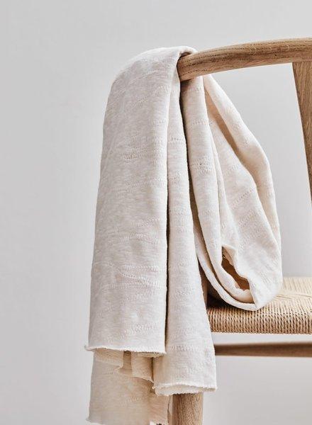 Mind The Maker organic slub jacquard knit - creamy white