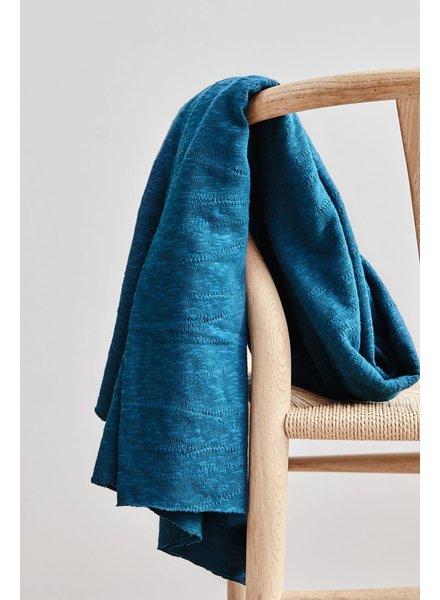 Mind The Maker organic slub jacquard knit - ocean