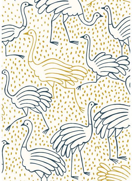 katia ostrich - canvas gold