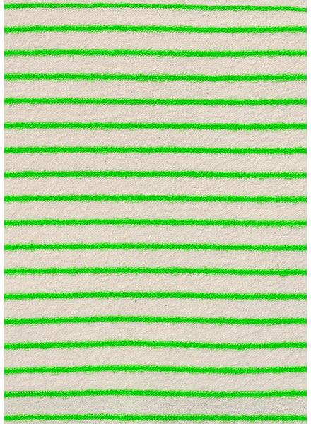 katia neon groen streepjes - spons / badstof