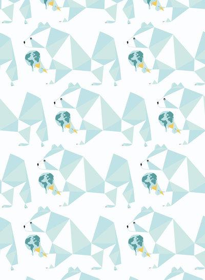 katia polar bear ice cream - french terry