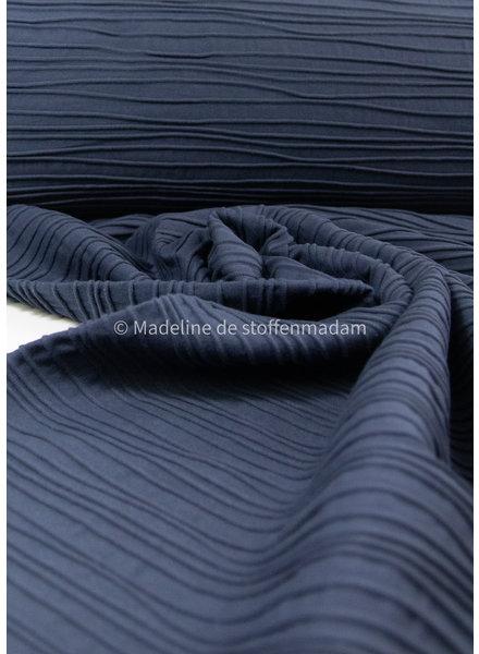 Swafing structured jersey marine blue - Peru