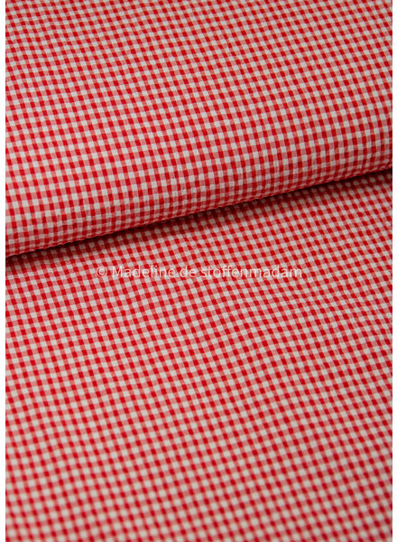 M red squares - seersucker