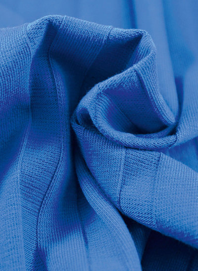 La Maison Victor kobalt - brede rib tricot