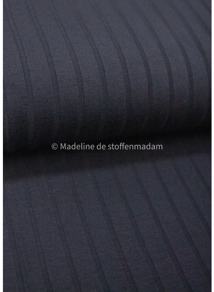 A La Ville black ribbed texture - viscose jersey
