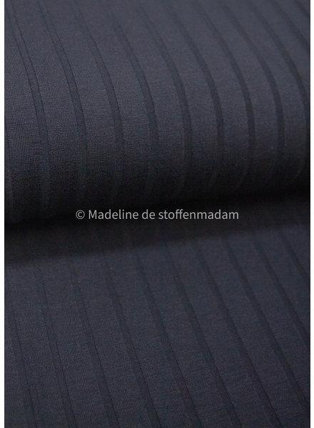 A La Ville zwart ribbel structuur - viscose tricot