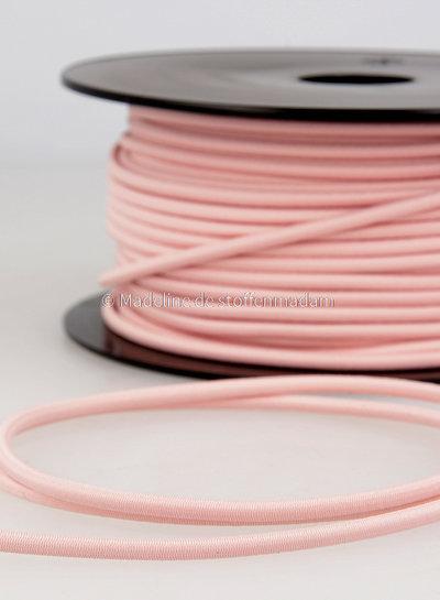 pink - round rayon elastic 3mm