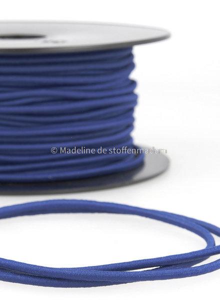 cobalt blue - round rayon elastic 3mm