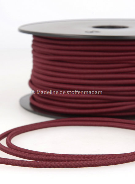 bordeaux - elastische koord 3mm