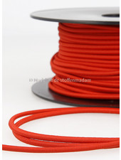 red - round rayon elastic 3mm