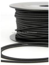 black - round rayon elastic 3mm