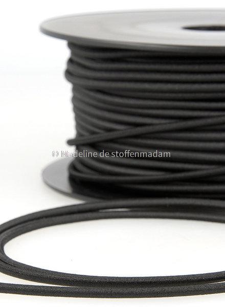 zwart - elastische koord 3mm