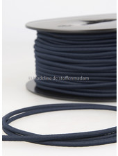 navy blue - round rayon elastic 3mm