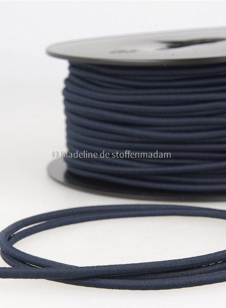 marineblauw - elastische koord 3mm