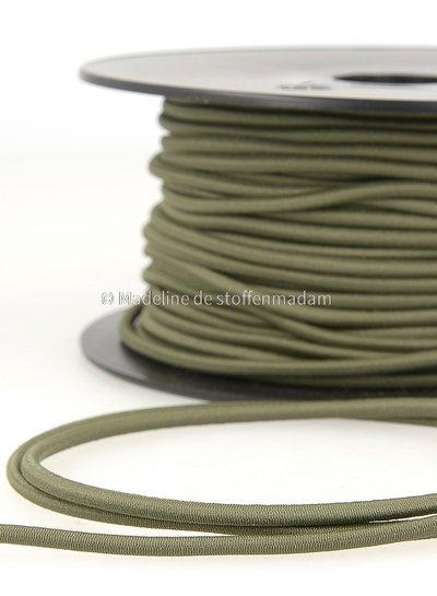 khaki - round rayon elastic 3mm