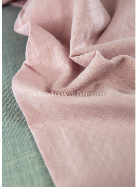 fijne broderie - heel soepelvallend - roze