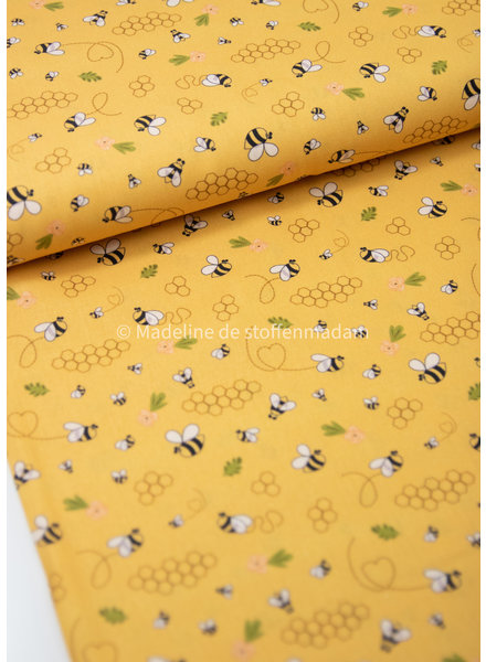 Swafing bees yellow - cotton