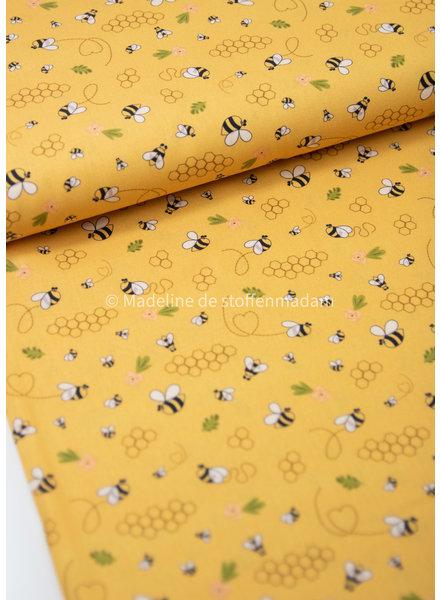 Swafing bijtjes geel- katoen