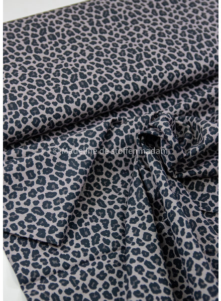 Swafing leopard grijs- katoentje