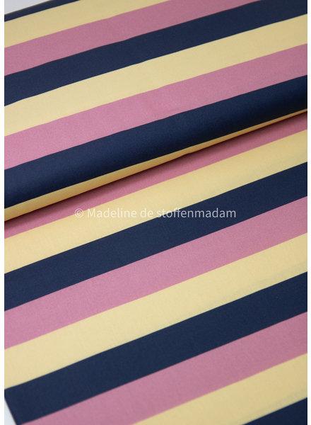 Swafing strepen geel roze marine - katoen