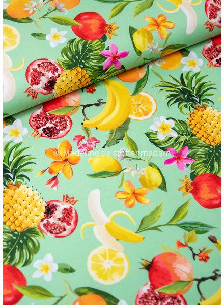 Swafing tropical fruit -zachte canvas
