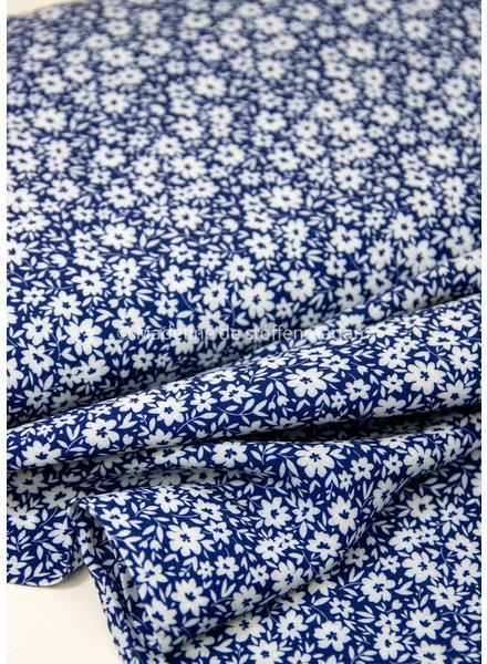 Swafing kobalt  kleine bloemetjes - viscose