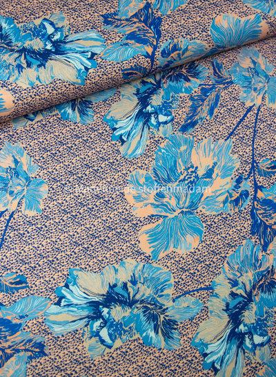 blauwe bloemen - crepe
