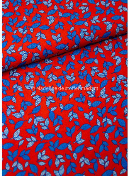 A La Ville blauw bloemetjes - viscose