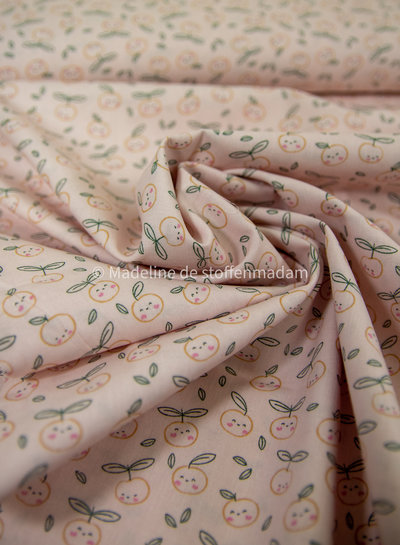 pink apples - cotton