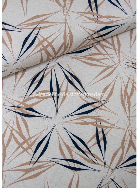 ferns naturel - linen viscose blend