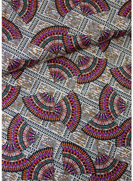 La Maison Victor Paula jurk - afrikaanse print - viscose