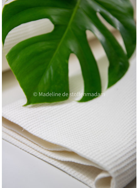 Bio waffle cotton fine - ecru