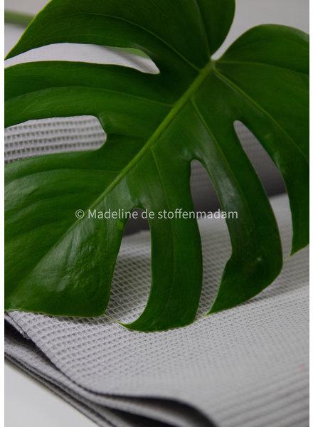 Bio waffle cotton fine - licht grey