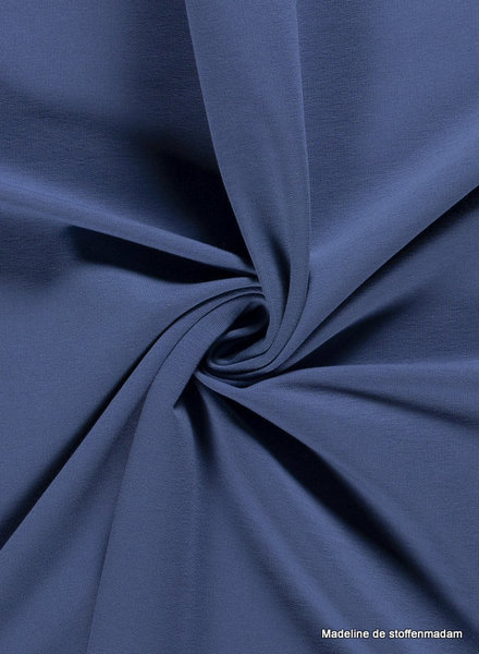 jeansblauw - effen french terry  oeko tex